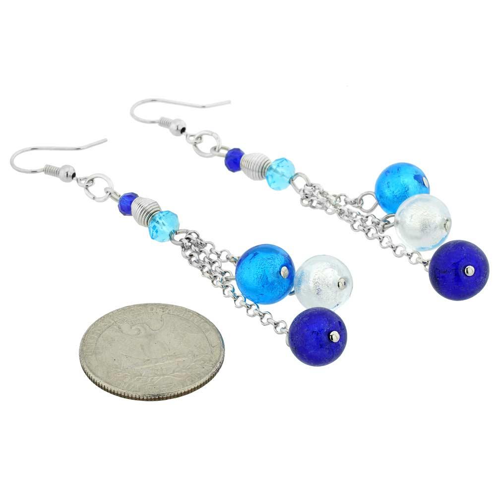 Sorgente Murano Glass Earrings - Blue