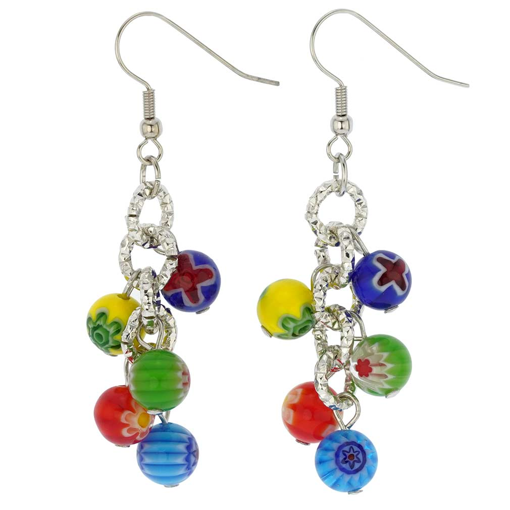 Sorgente Millefiori Murano Glass Earrings - Multicolor