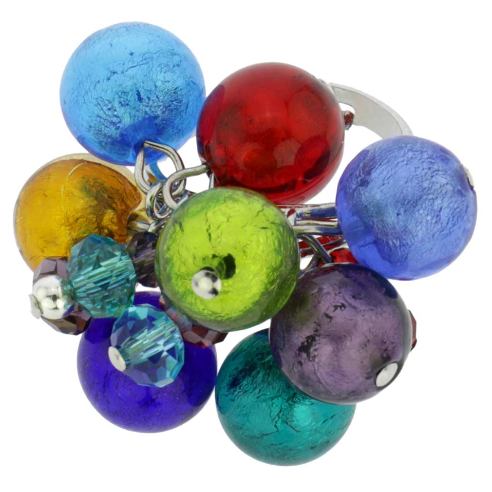 Sorgente Murano Glass Ring - Multicolor
