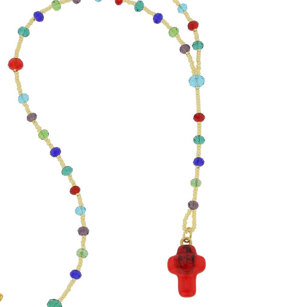 Murano Glass Italian Rosary - Multicolor