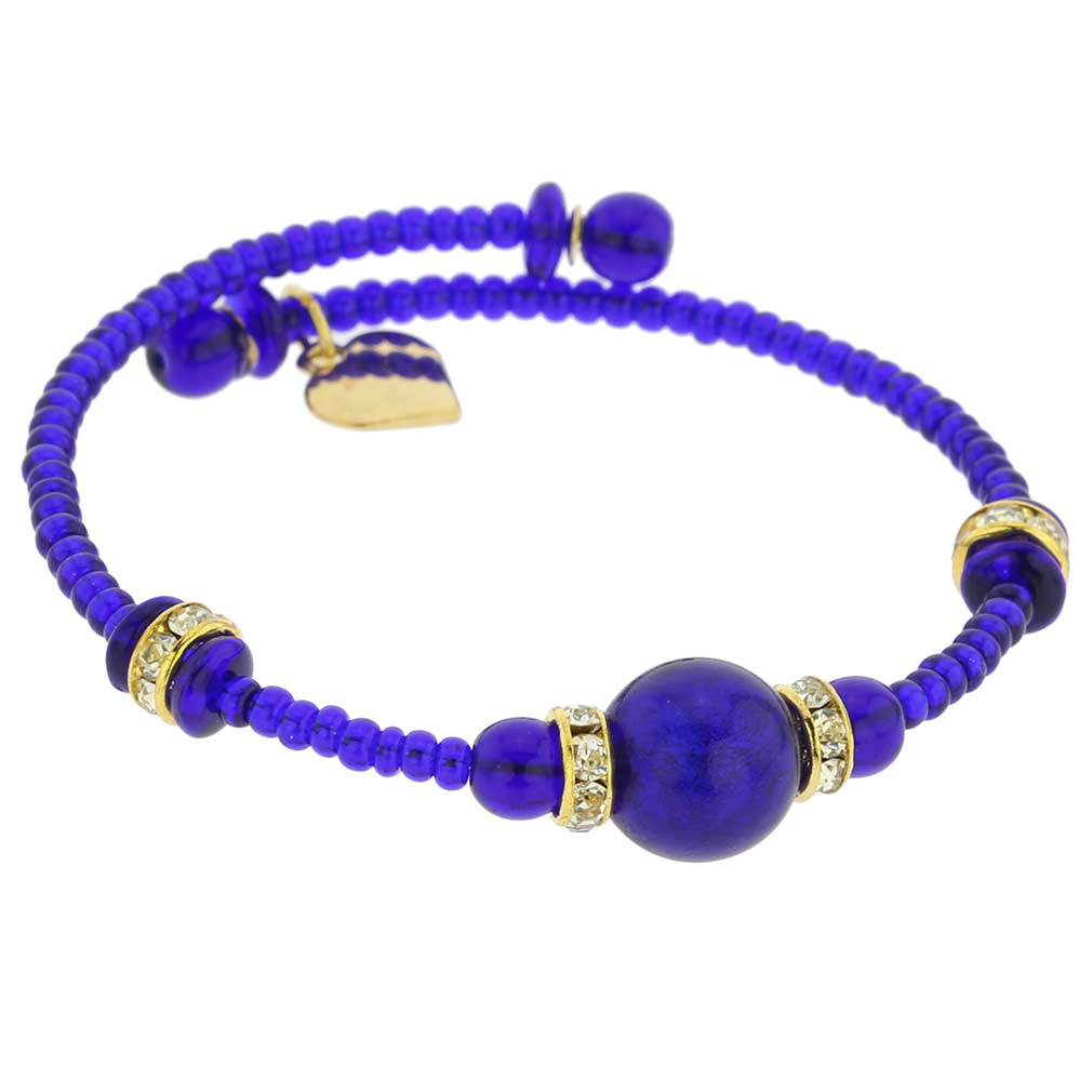 Carino Murano Glass Bracelet - Navy Blue