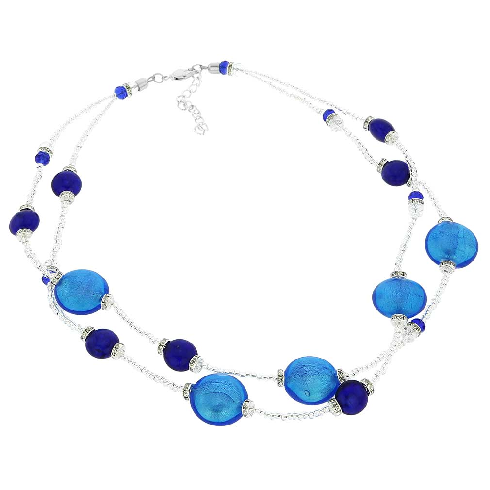 Adelina Murano Glass Necklace - Blue