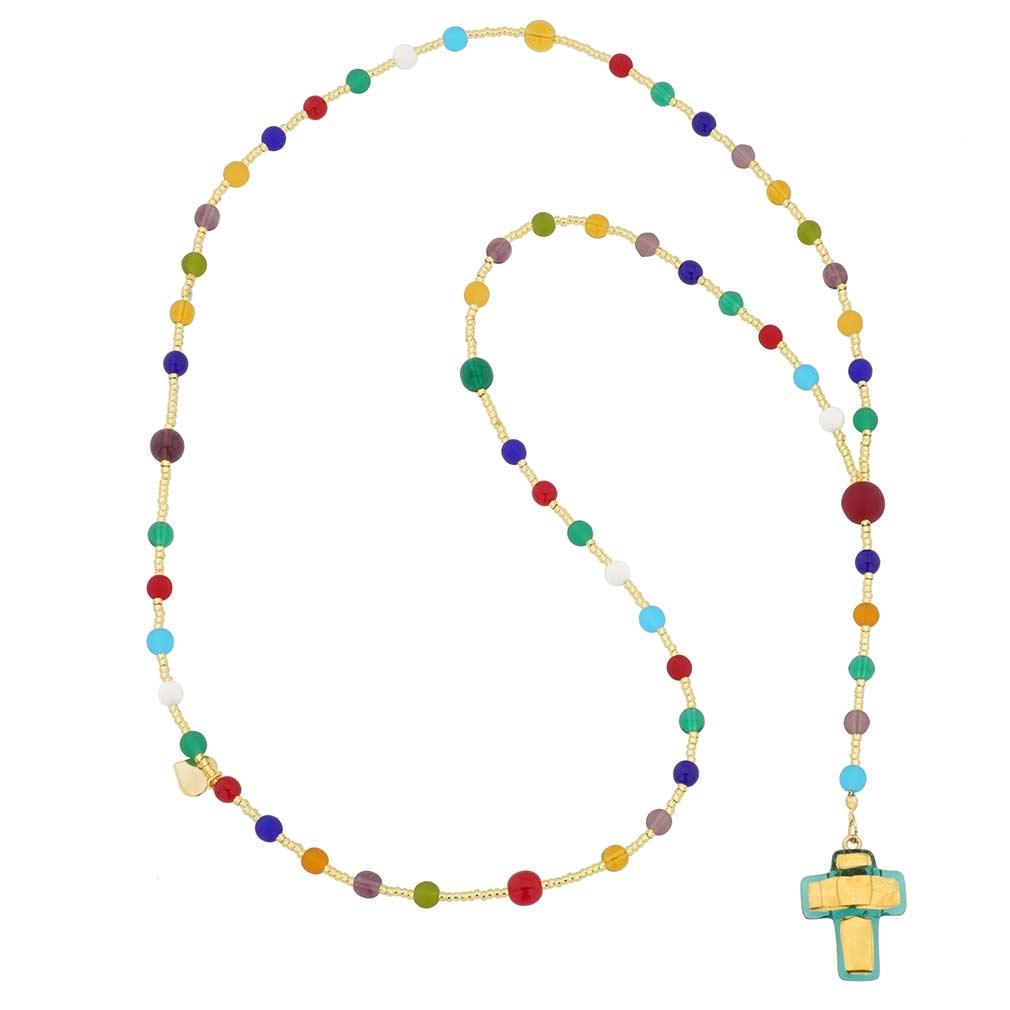 Murano Glass Italian Rosary - Green
