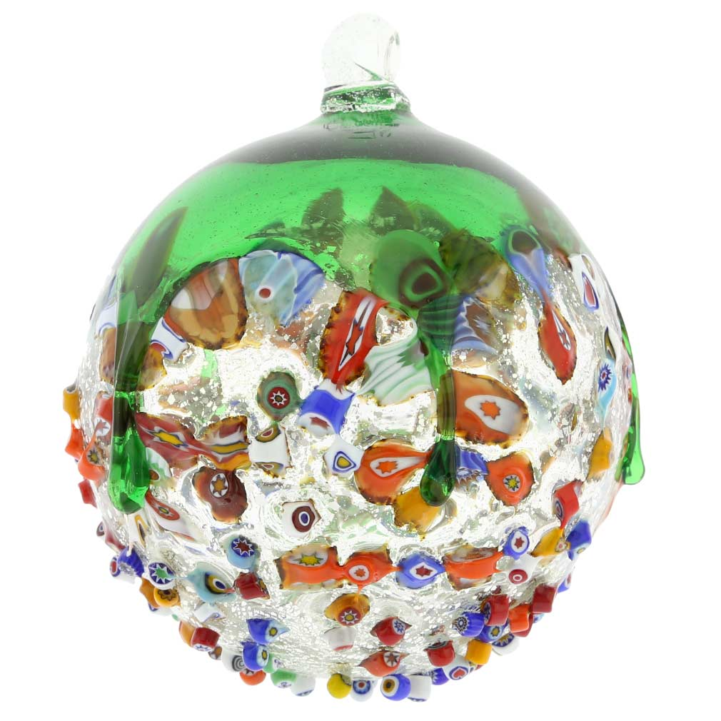 Christmas tree ornaments venetian mosaic murano glass for Christmas tree photo ornaments