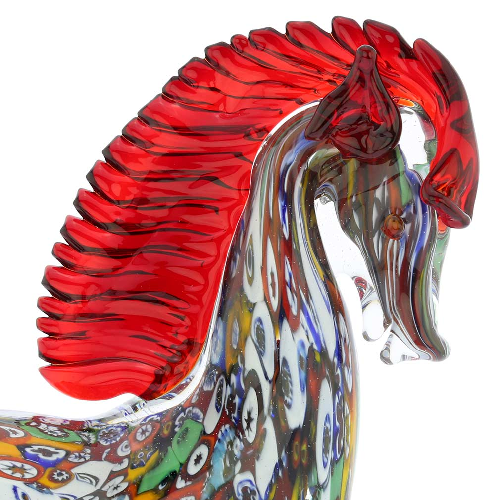 Murano Art Glass Millefiori Horse
