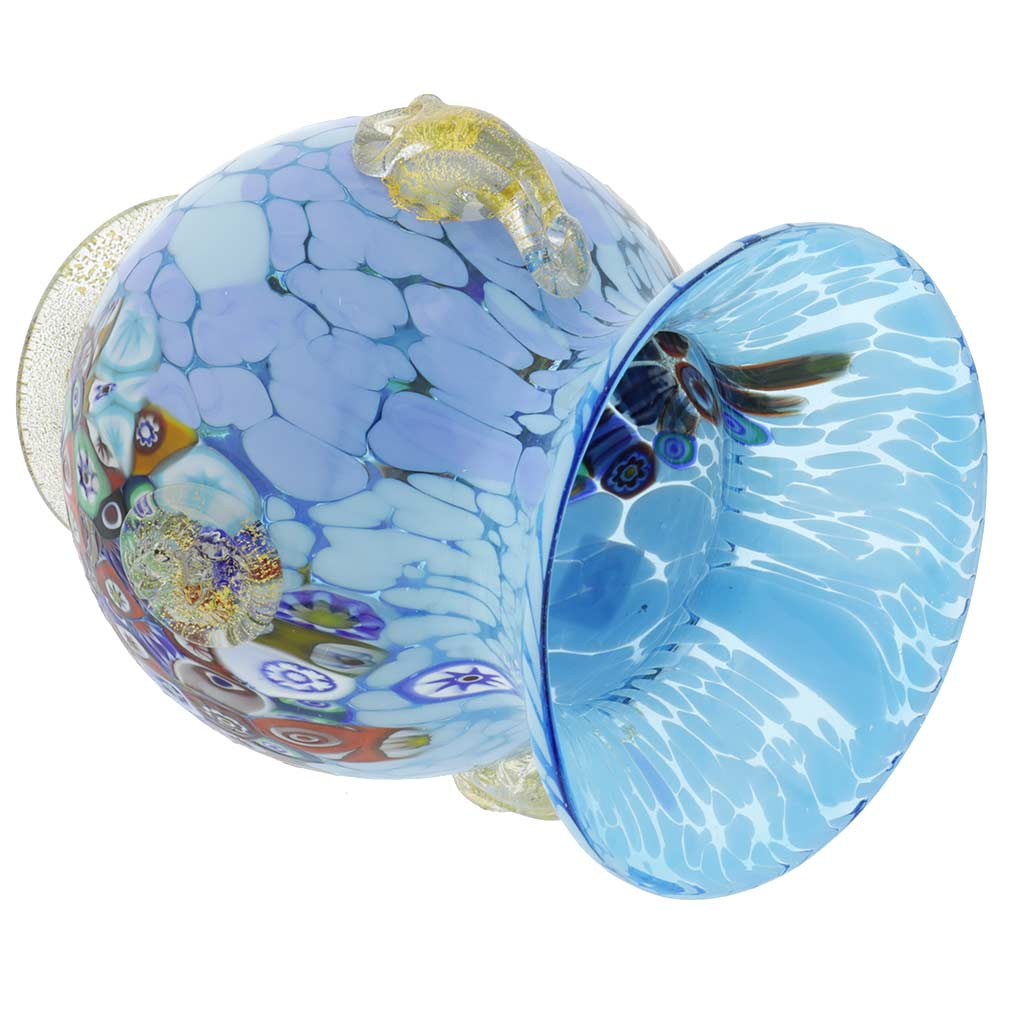 Murano Glass Vases Murano Glass Millefiori Urn Vase With