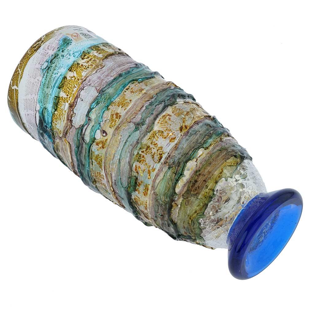 Murano Sbruffo Vase - Aqua Purple