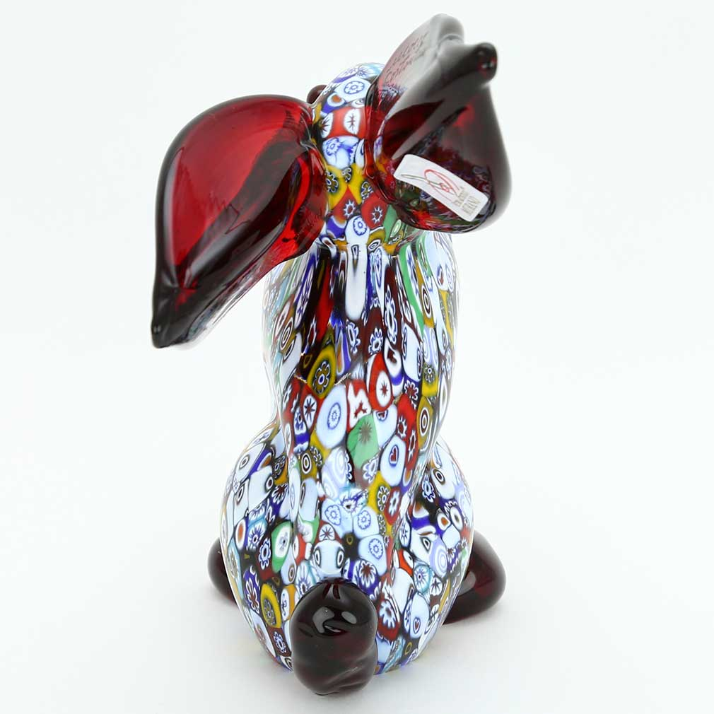 Murano Art Glass Millefiori Rabbit Sculpture
