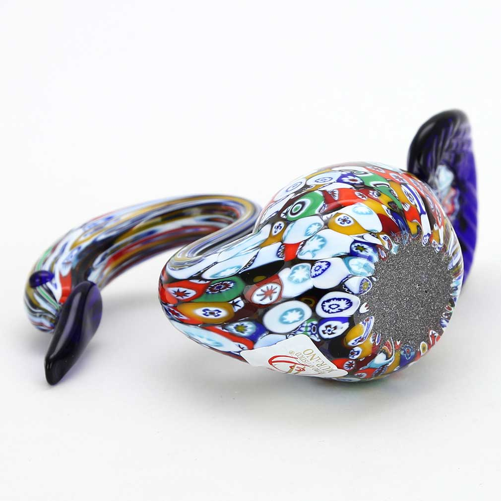Murano Art Glass Millefiori Swan Sculpture