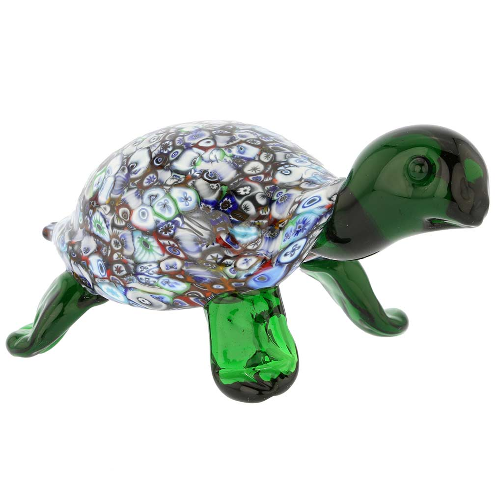 Murano Art Glass Millefiori Turtle Sculpture