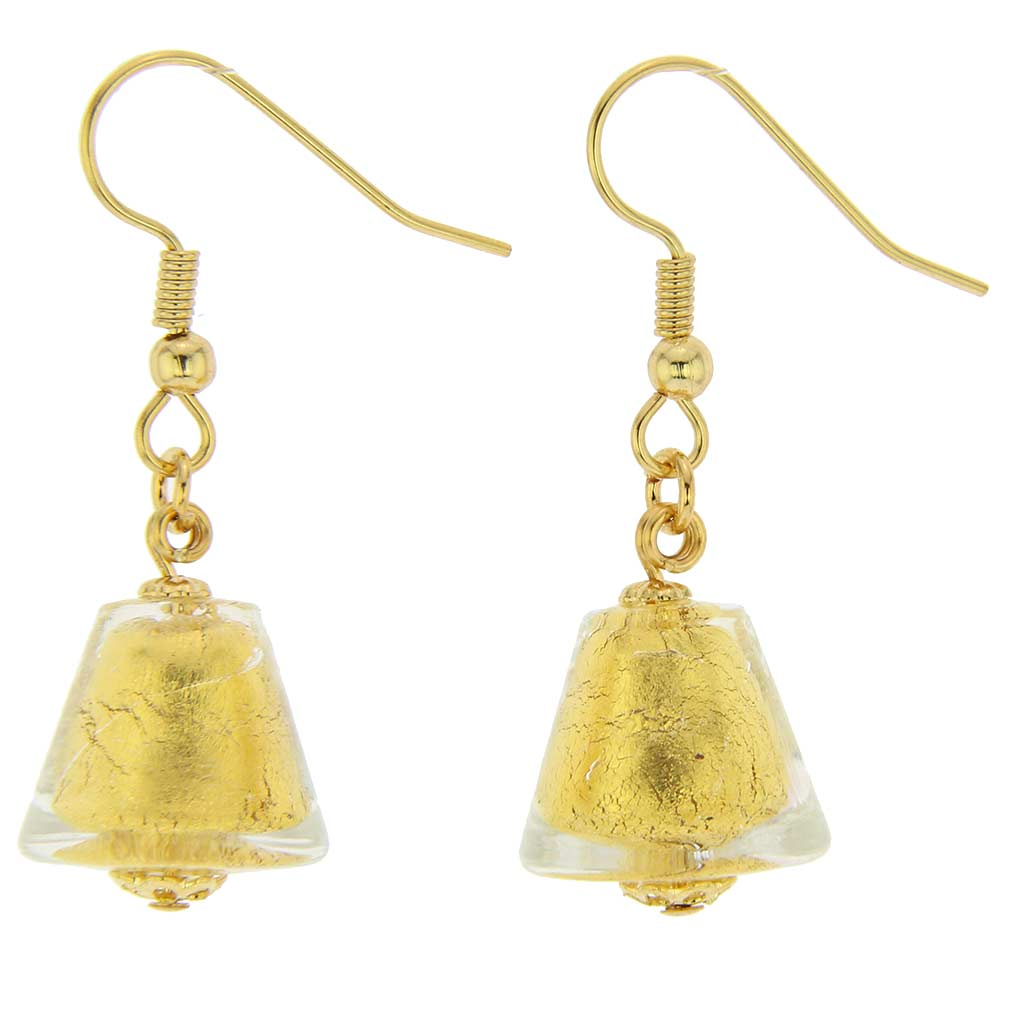 Starlight Cones Earrings - Liquid Gold