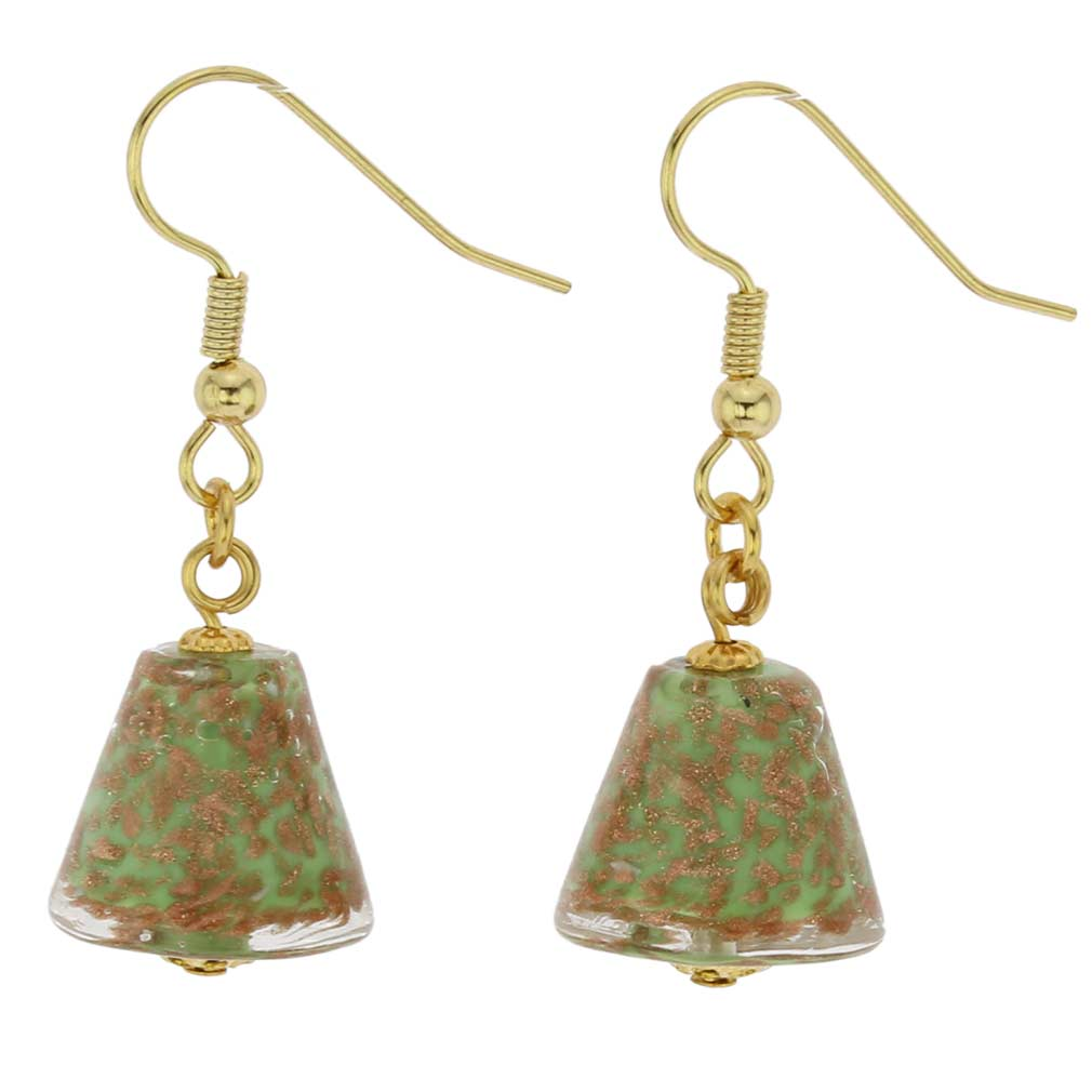Starlight Cones Earrings - Seafoam Green
