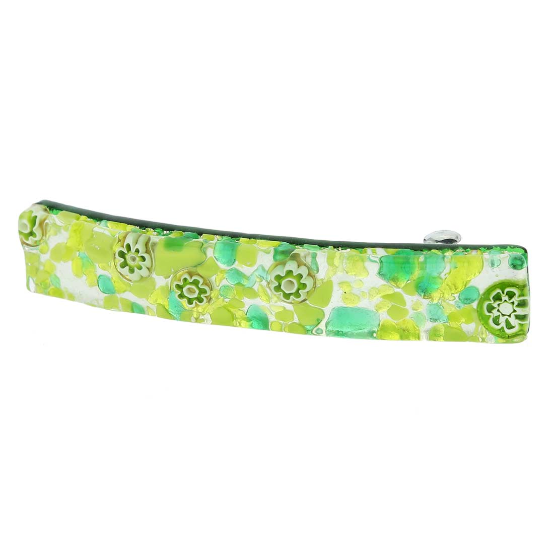 Venetian Reflections Hair Clip - Green Silver