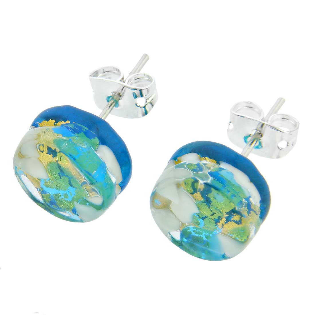 Venetian Reflections Round Jewelry Set - Aqua Gold