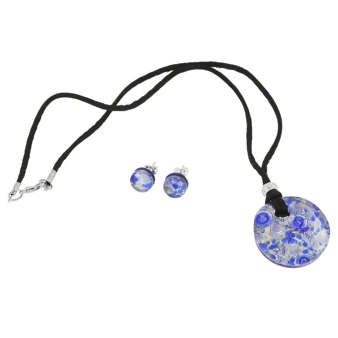 Venetian Reflections Round Jewelry Set - Periwinkle