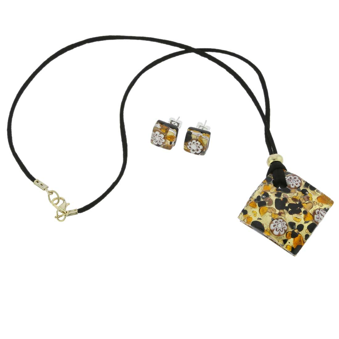 Venetian Reflections Necklace and Earrings Set - Topaz Gold