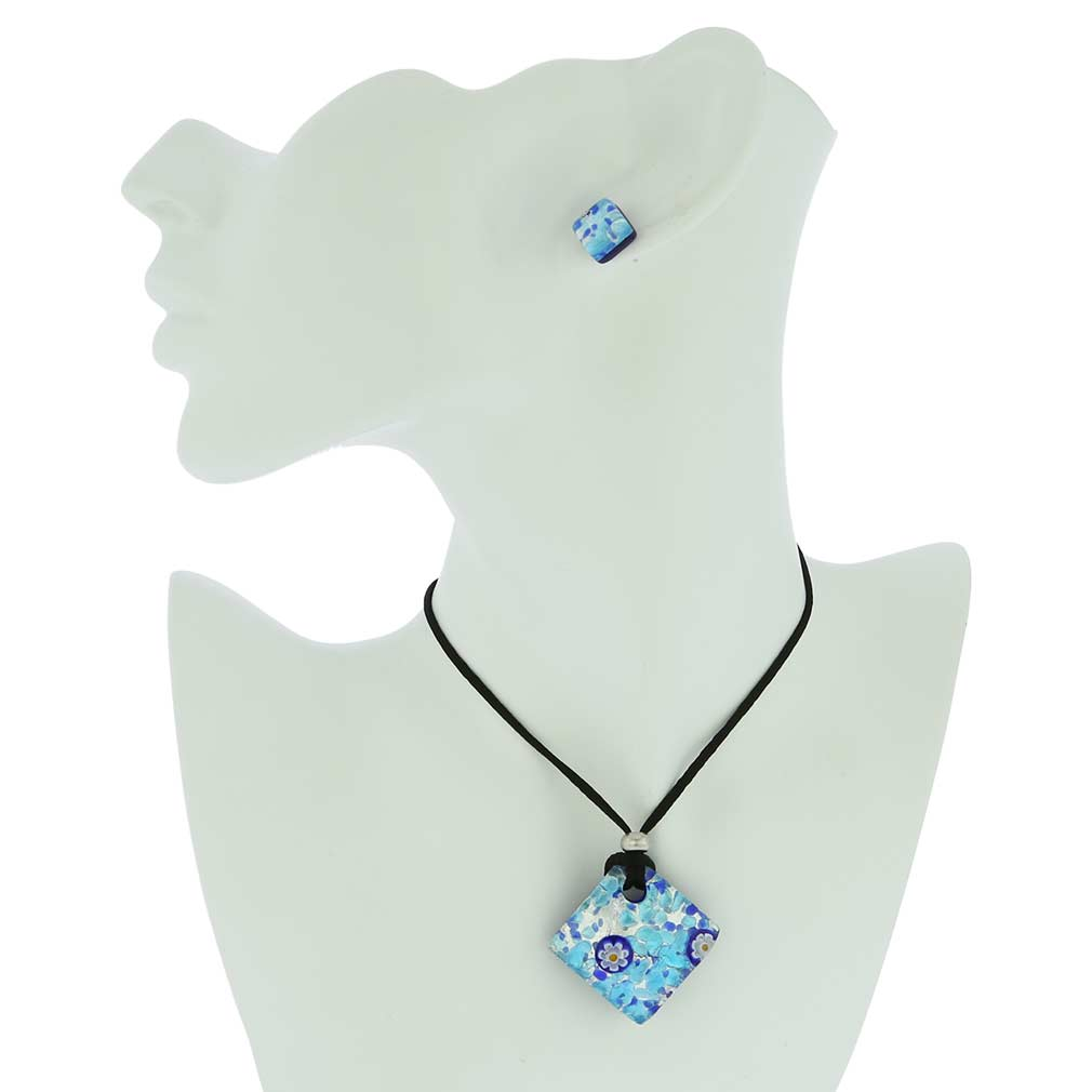 Venetian Reflections Jewelry Set - Aqua Blue