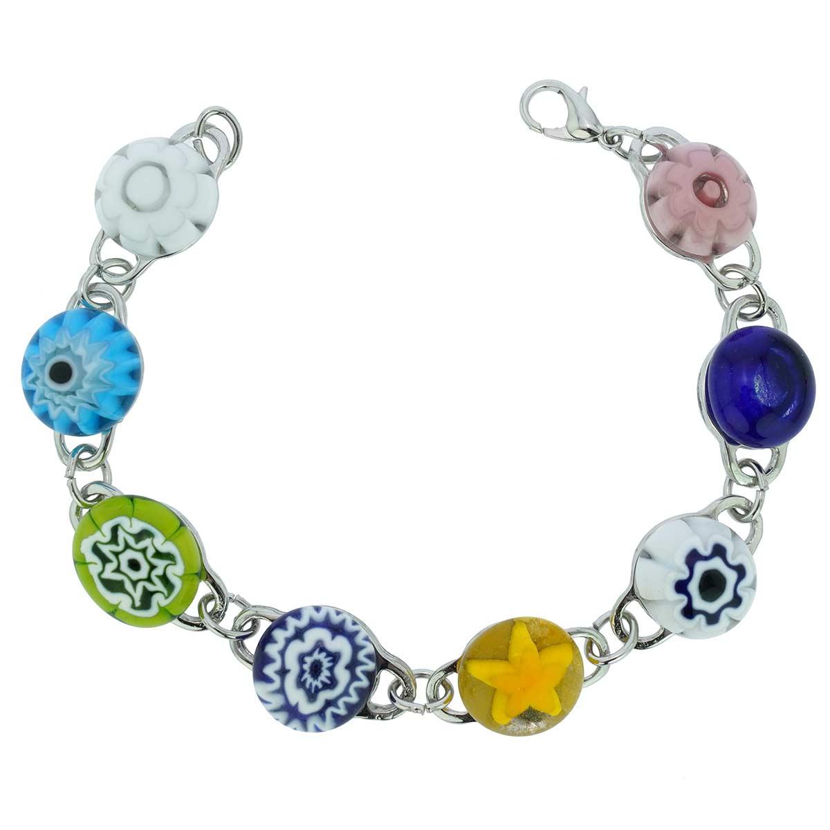 Millefiori Murano Glass Bracelet - Multicolor