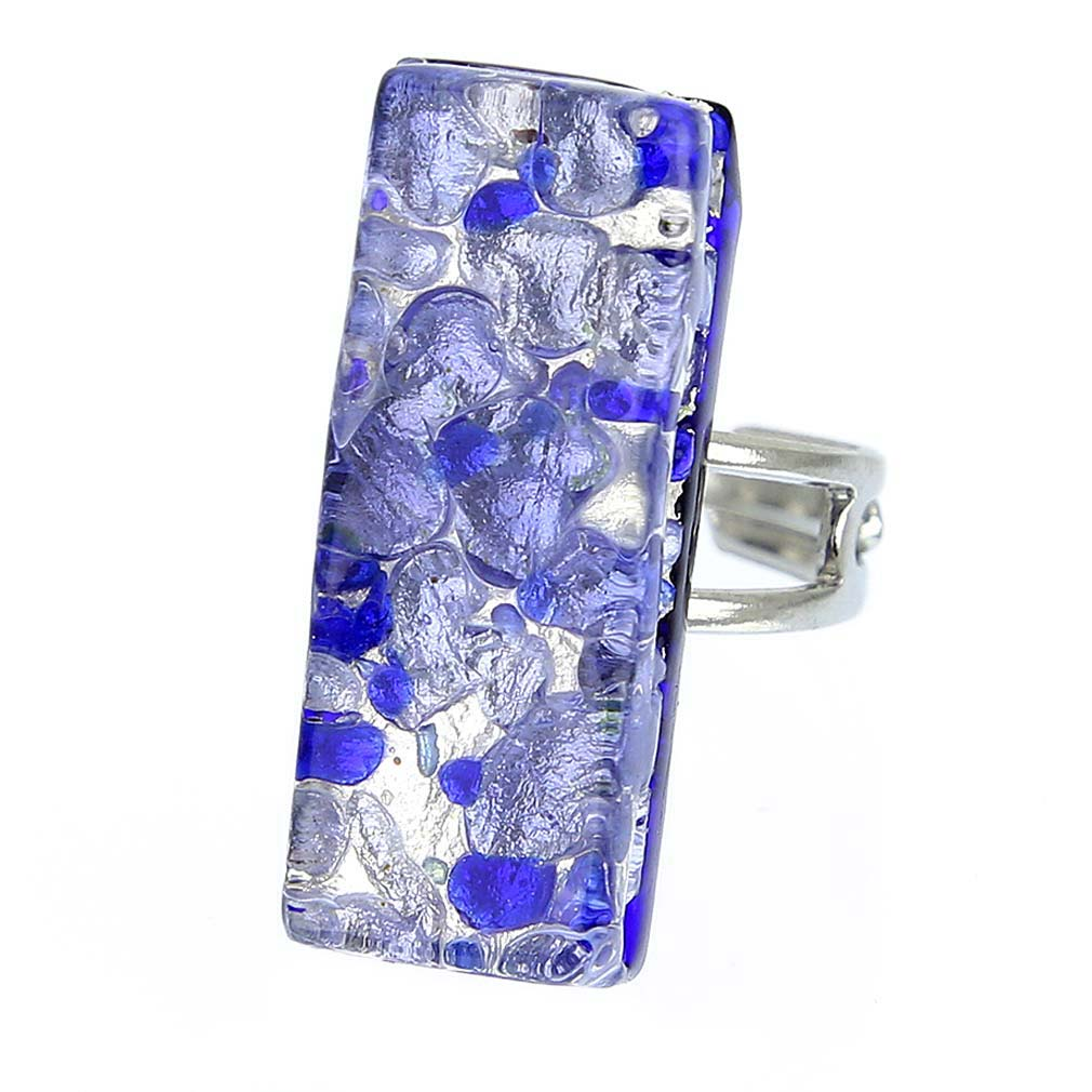 Venetian Reflections Rectangular Ring - Periwinkle