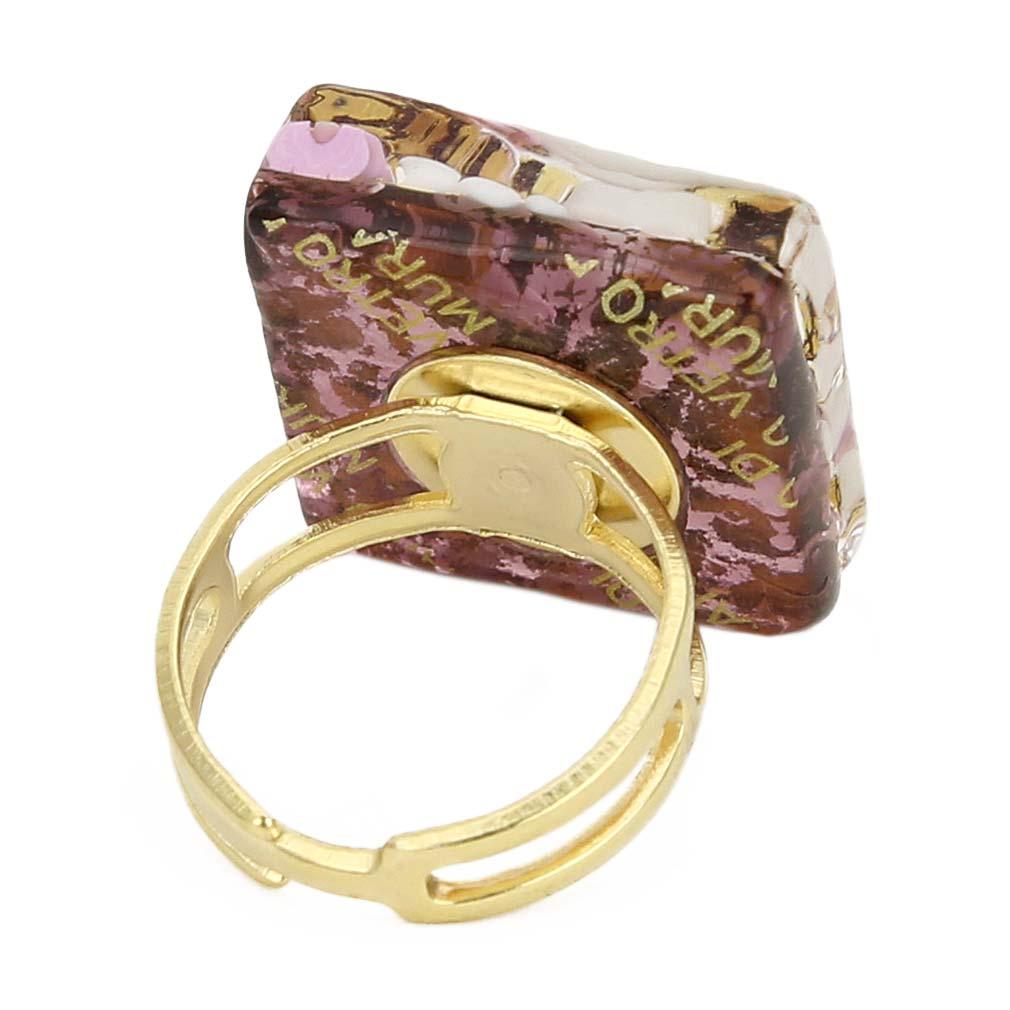 Murano Rings  Venetian Reflections Square Adjustable Ring. Cornflower Blue Wedding Rings. Style Engagement Rings. True Engagement Rings. Petite Princess Wedding Rings. Married Rings. Half Engagement Rings. Matte Yellow Gold Engagement Rings. 2ct Engagement Rings