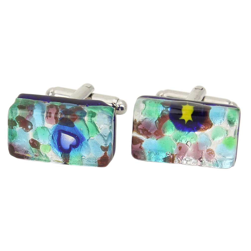 Venetian Classic Rectangular Cufflinks - Silver Meadow