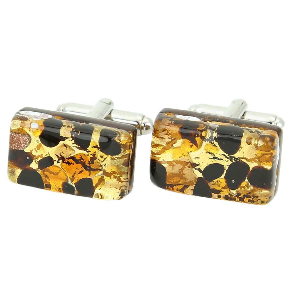 Venetian Classic Rectangular Cufflinks - Topaz Gold