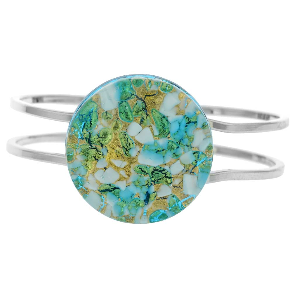 Venetian Reflections Metal Bracelet - Aqua Gold