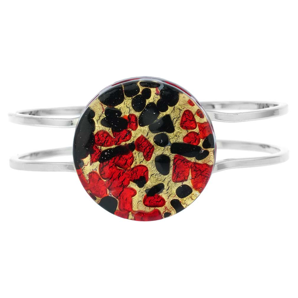 Venetian Reflections Metal Bracelet - Black Red