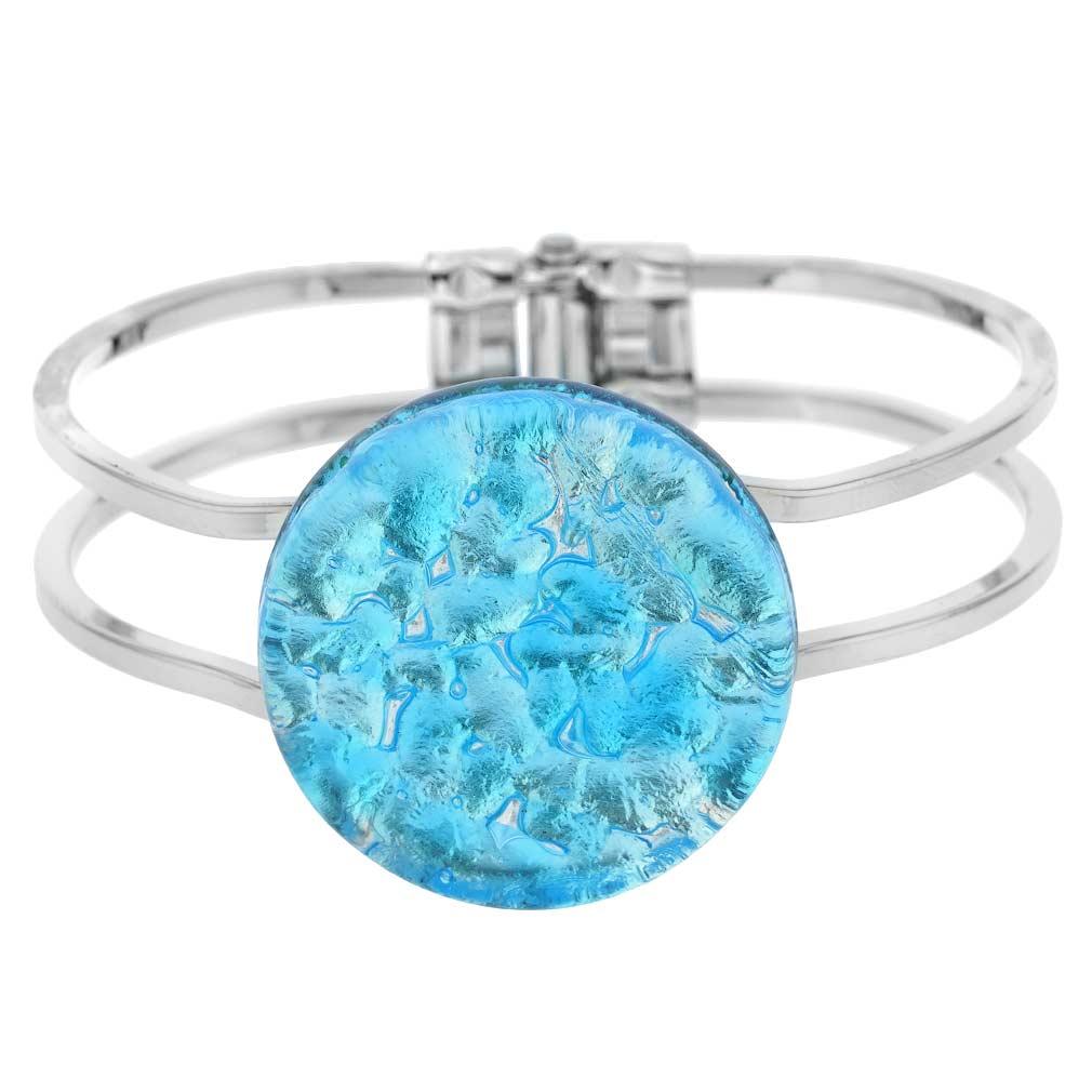 Venetian Reflections Metal Bracelet - Aqua Silver