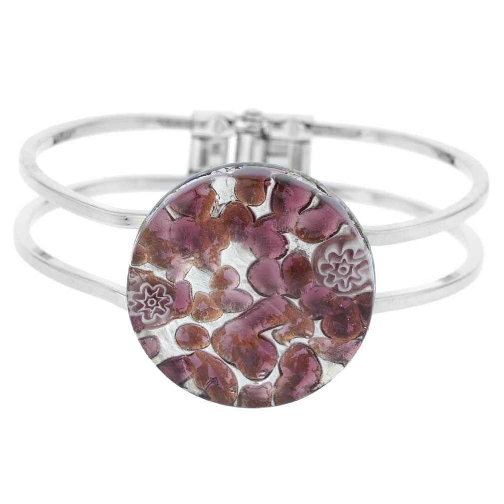 Venetian Reflections Metal Bracelet - Purple Silver
