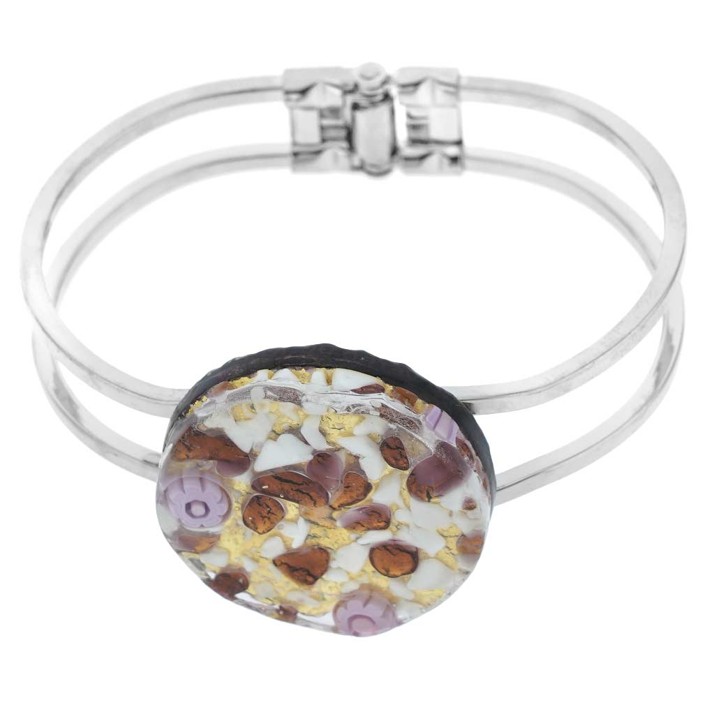 Venetian Reflections Metal Bracelet - Purple Gold