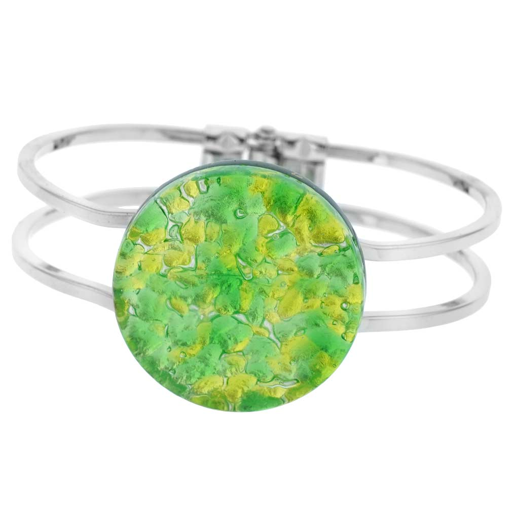 Venetian Reflections Metal Bracelet - Green Silver