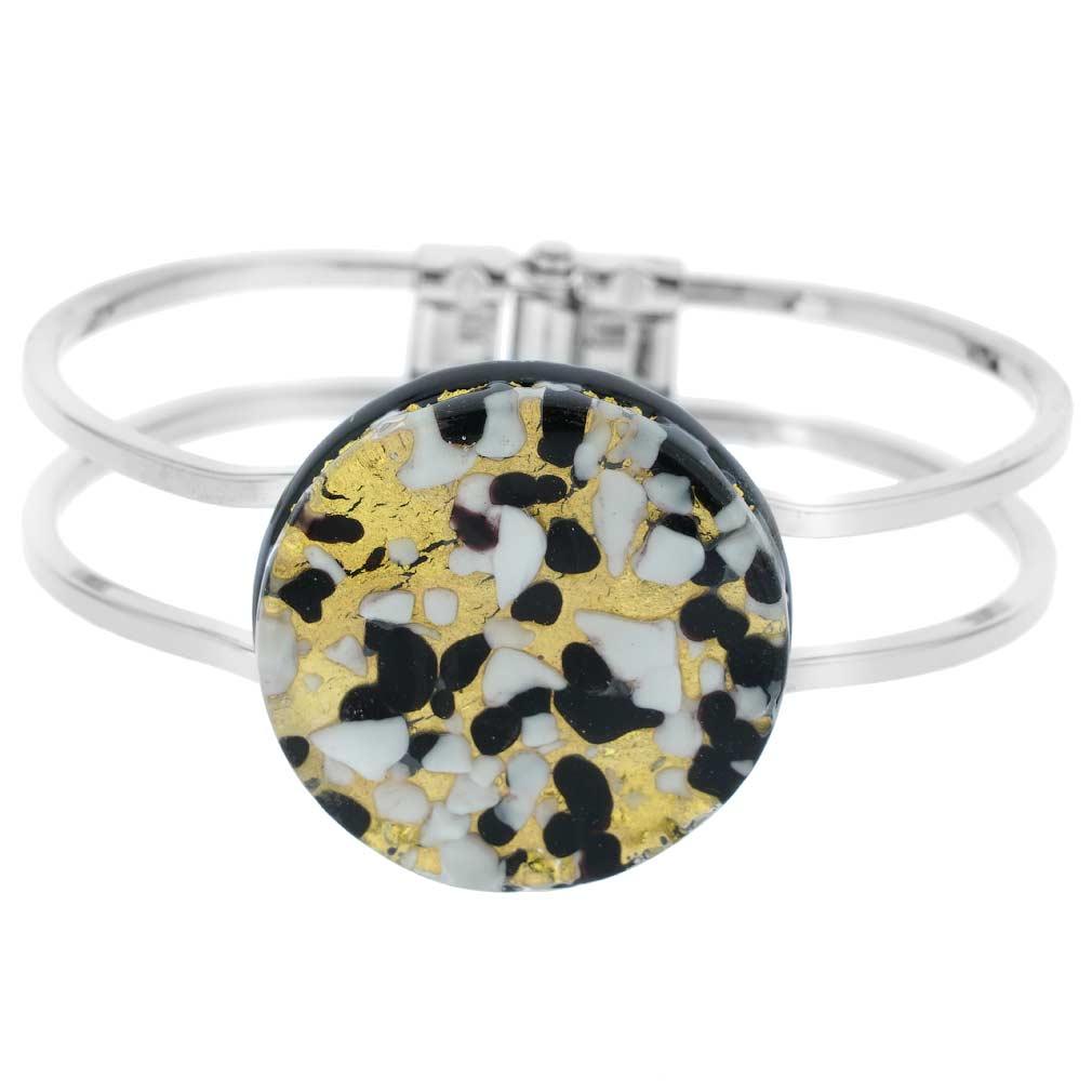 Venetian Reflections Metal Bracelet - Black Gold