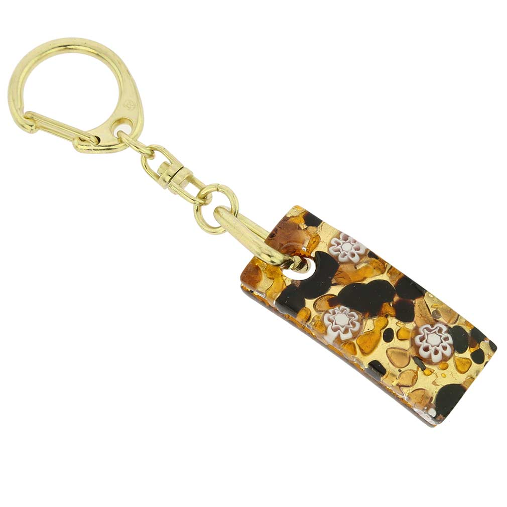 Murano Colors Stick Keychain - Topaz Gold