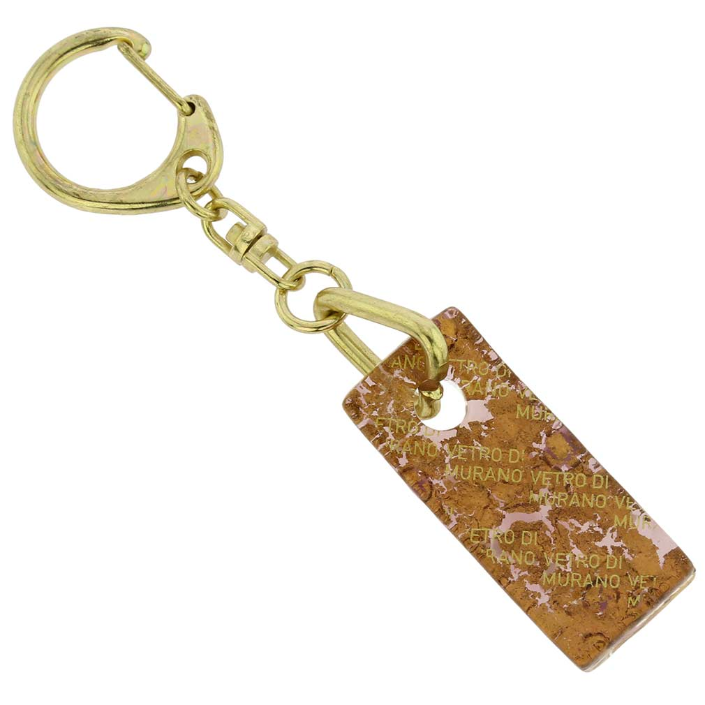Murano Colors Stick Keychain - Purple Gold