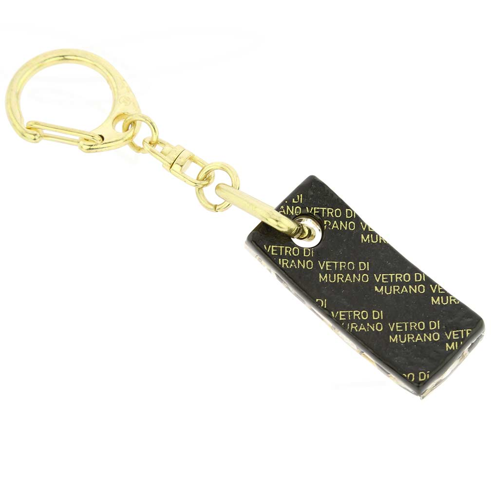 Murano Colors Stick Keychain - Black Gold
