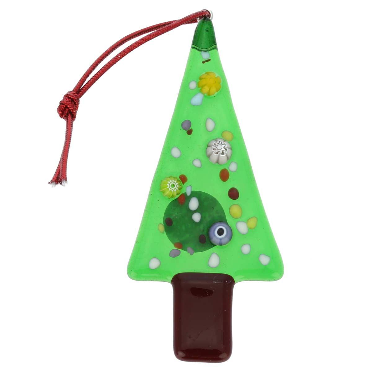 Christmas tree ornaments murano glass christmas tree for Glass christmas decorations