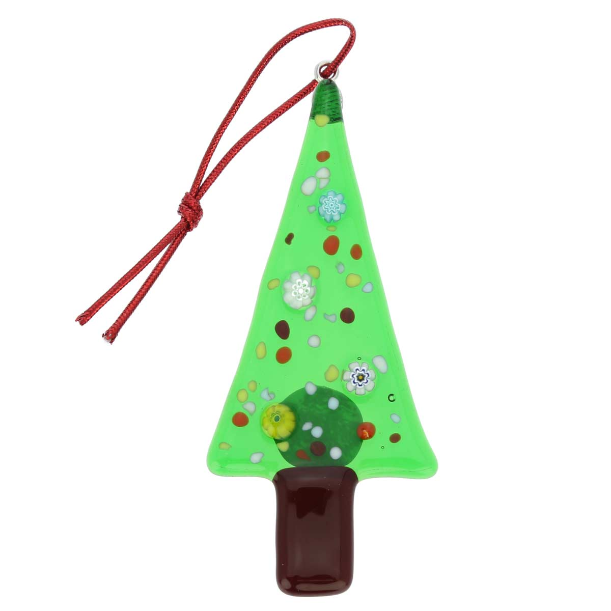 Christmas tree ornaments murano glass christmas tree for Christmas tree photo ornaments