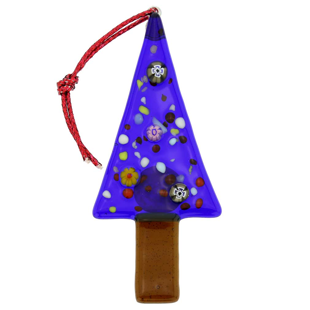 Murano Glass Christmas Tree Ornament - Blue