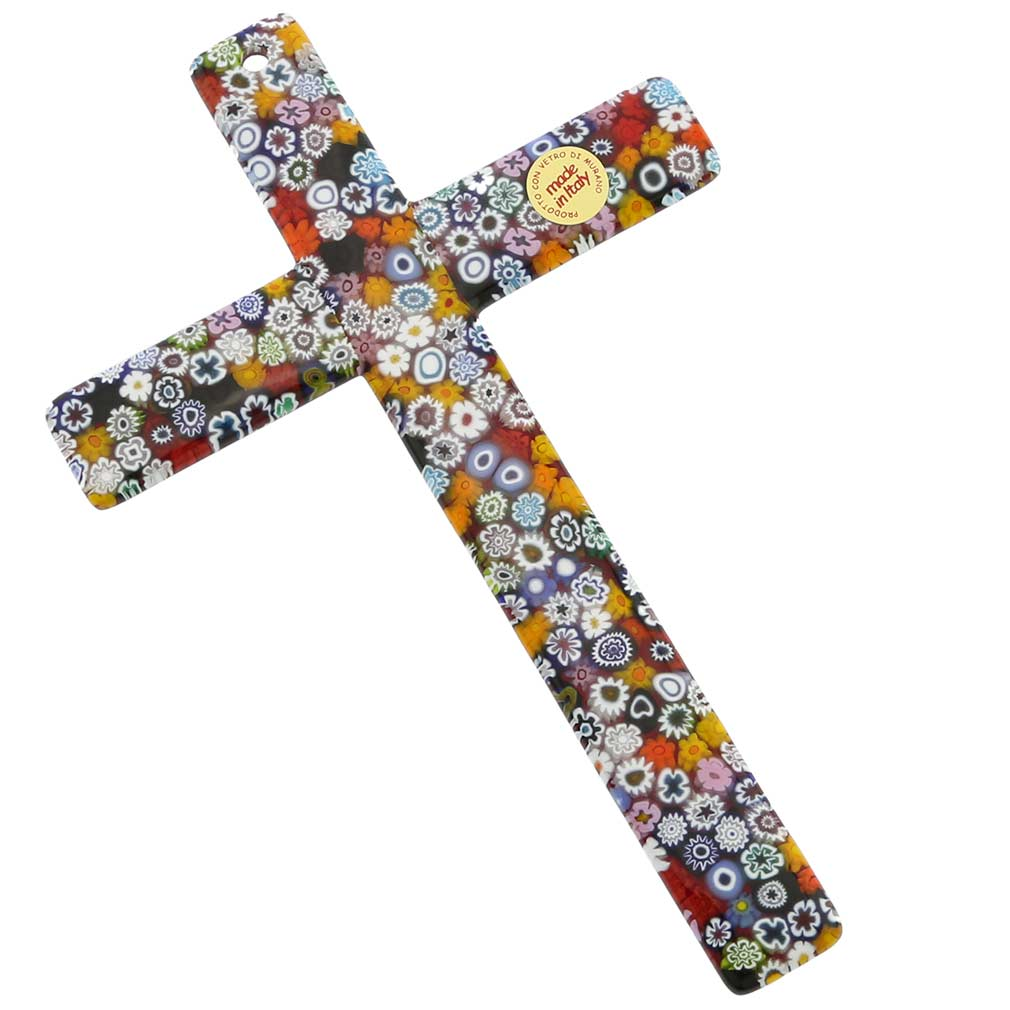 Murano Art Glass Wall Crucifix