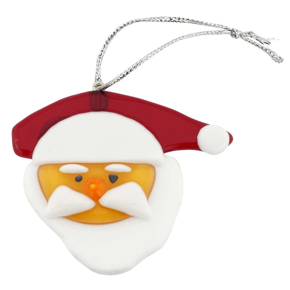 Murano Glass Santa Claus Christmas Ornament