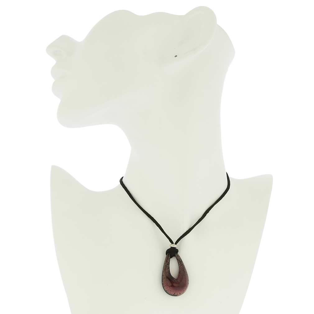 Gemma Murano Necklace - Purple