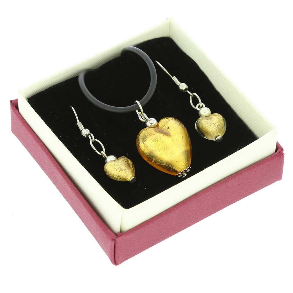 Venetian Reflections Jewelry Set - Gold