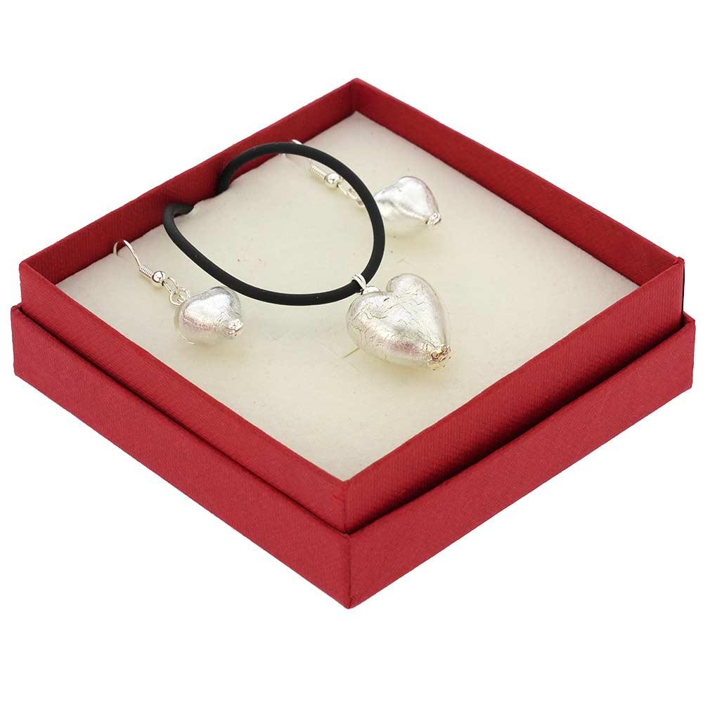 Venetian Reflections Jewelry Set - Silver