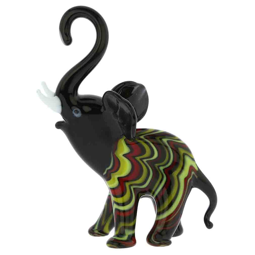 Festooned Glass Elephant