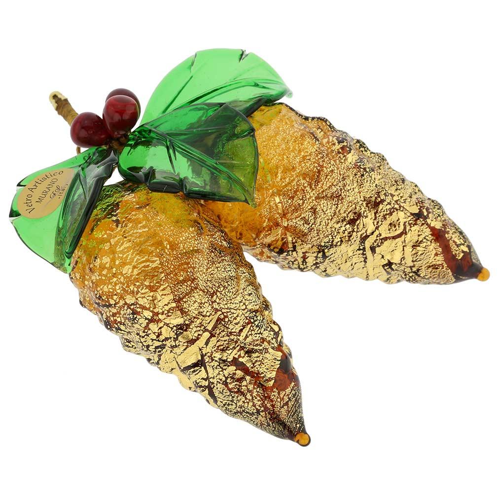 Murano Glass Pine Cones Hanging Figurine