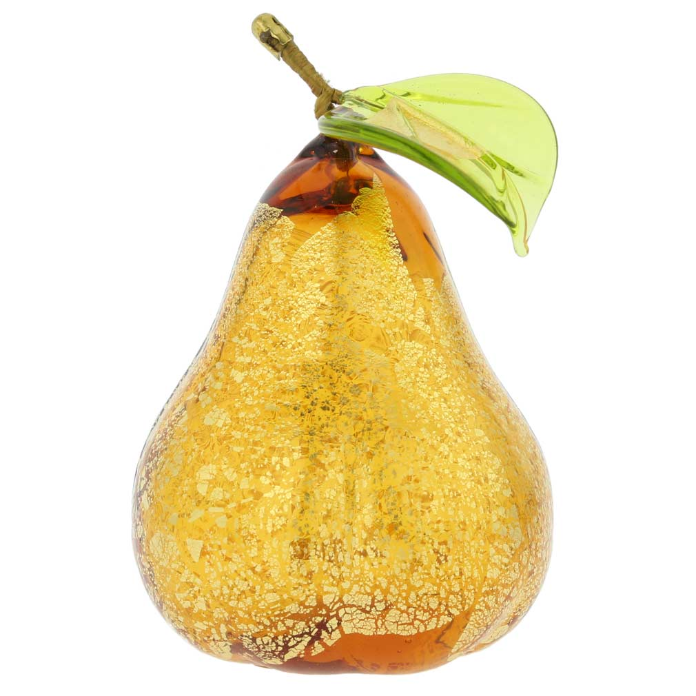 Murano Glass Pear Figurine