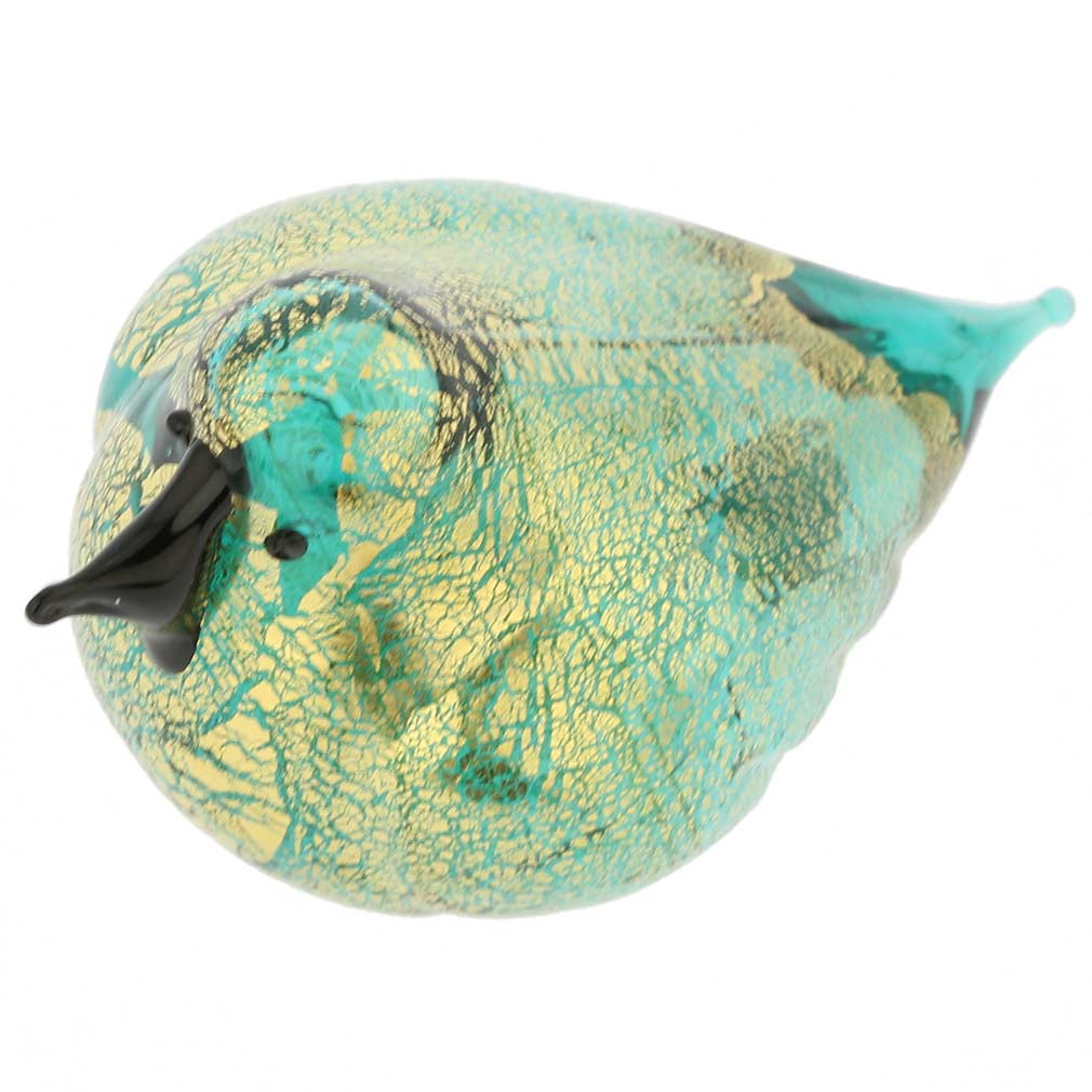 Murano Glass Bird - Aquamarine