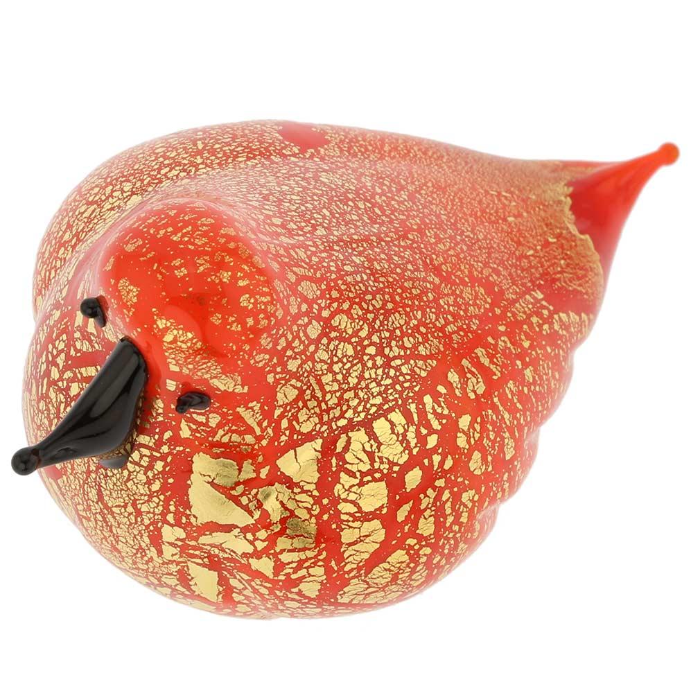 Murano Glass Bird - Orange