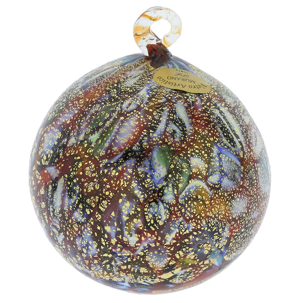 Murano Glass Medium Christmas Ornament - Festive Lights